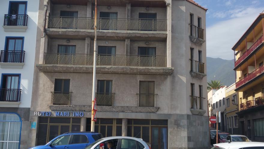 Imagen del Hotel Marítimo de Santa Cruz de La Palma. Foto: LUZ RODRÍGUEZ.