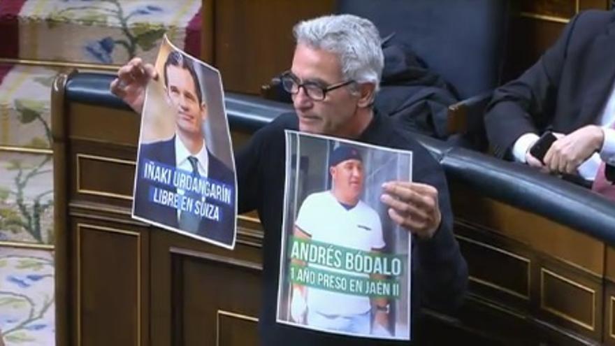El diputado Diego Cañamero reivindica la diferencia de trato de Andrés Bódalo e Iñaki Urdangarin