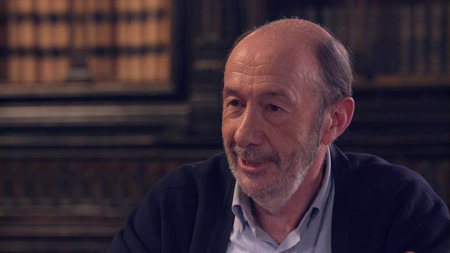 Rubalcaba durante la entrevista en '40 años de democracia'
