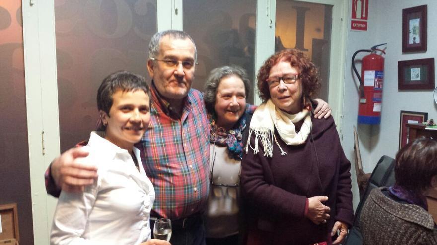 María, Miguel, Concha y Ana.