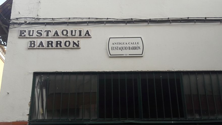 Calle Eustaquia Barrón.