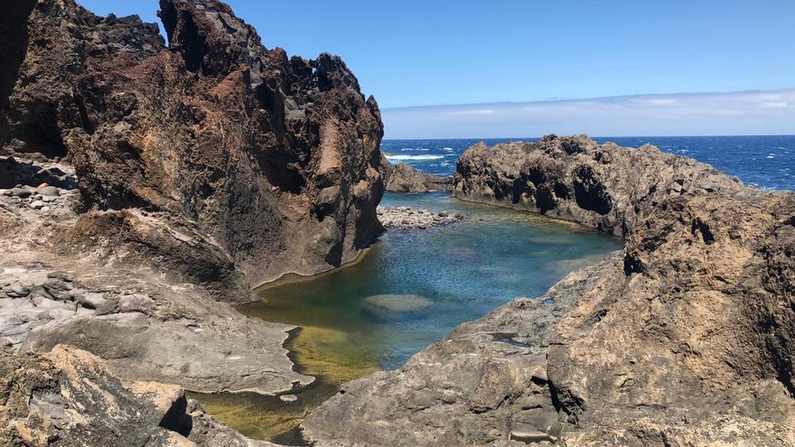 Una de las piscinas naturales en la costa de Juan Adalid (Garafía)