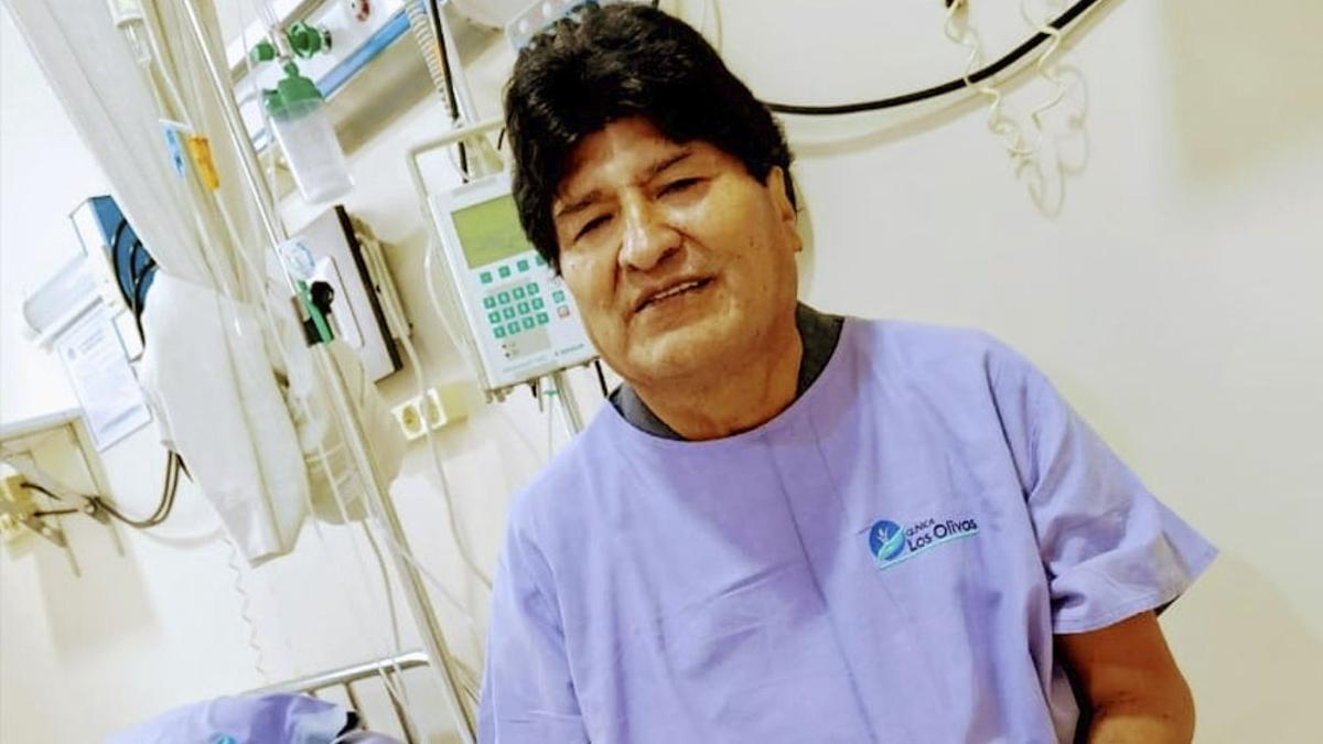 Evo Morales estuvo internado por coronavirus.