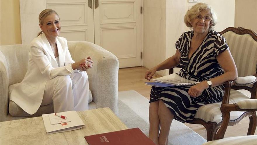"""Carmena lamenta que Cifuentes no vaya a Cibeles: """"Tenía una comida estupenda"""""""