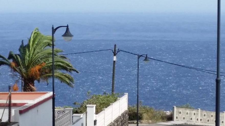 En la imagen, zona de Breña Baja, donde el viento sopla con intensidad. Foto: FELIPE PINO PÉREZ.