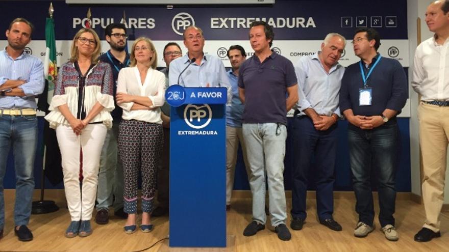 Monago interviene tras conocer el resultado electoral / @ppextremadura