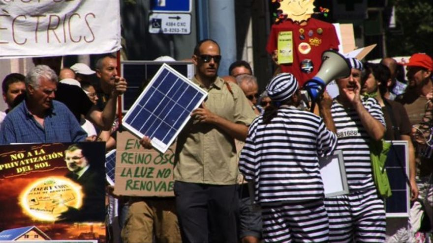 Protesta contra el modelo energético
