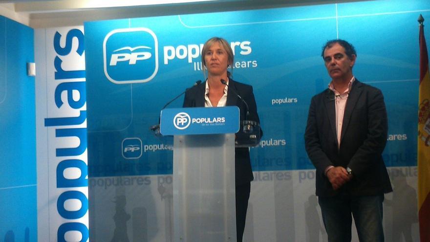 Palmer dice que el PP balear está unido y se muestra convencida de que conseguirán el cuarto diputado