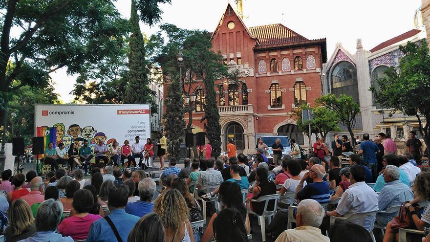 Joan Ribó y el resto de concejales de Compromís hacen balance de su primer año de gobierno en Valencia