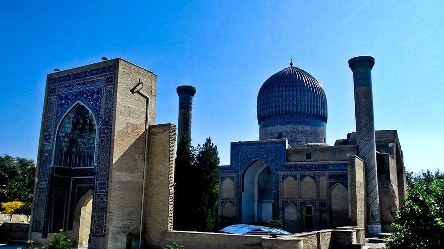 Mausoleo de Tarmelán, héroe local y artífice de la gloria de Samarcanda.