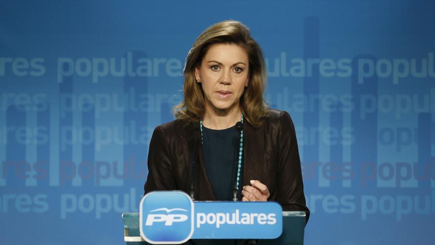 """Cospedal dice, ante el Congreso del PP vasco, que los nombres """"no son lo más importante"""" sino las políticas del partid"""