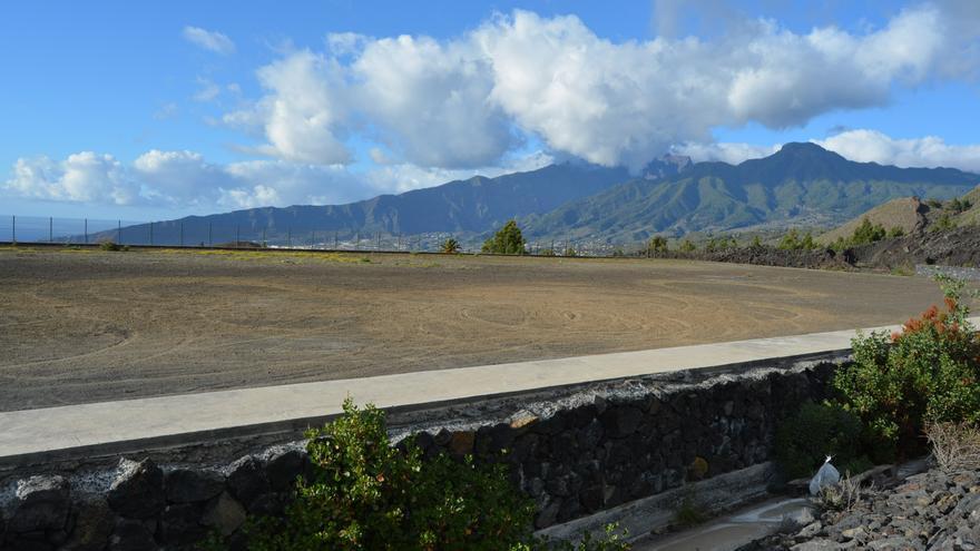 Zona donde se realizarán las obras del complejo deportivo de Las Manchas.
