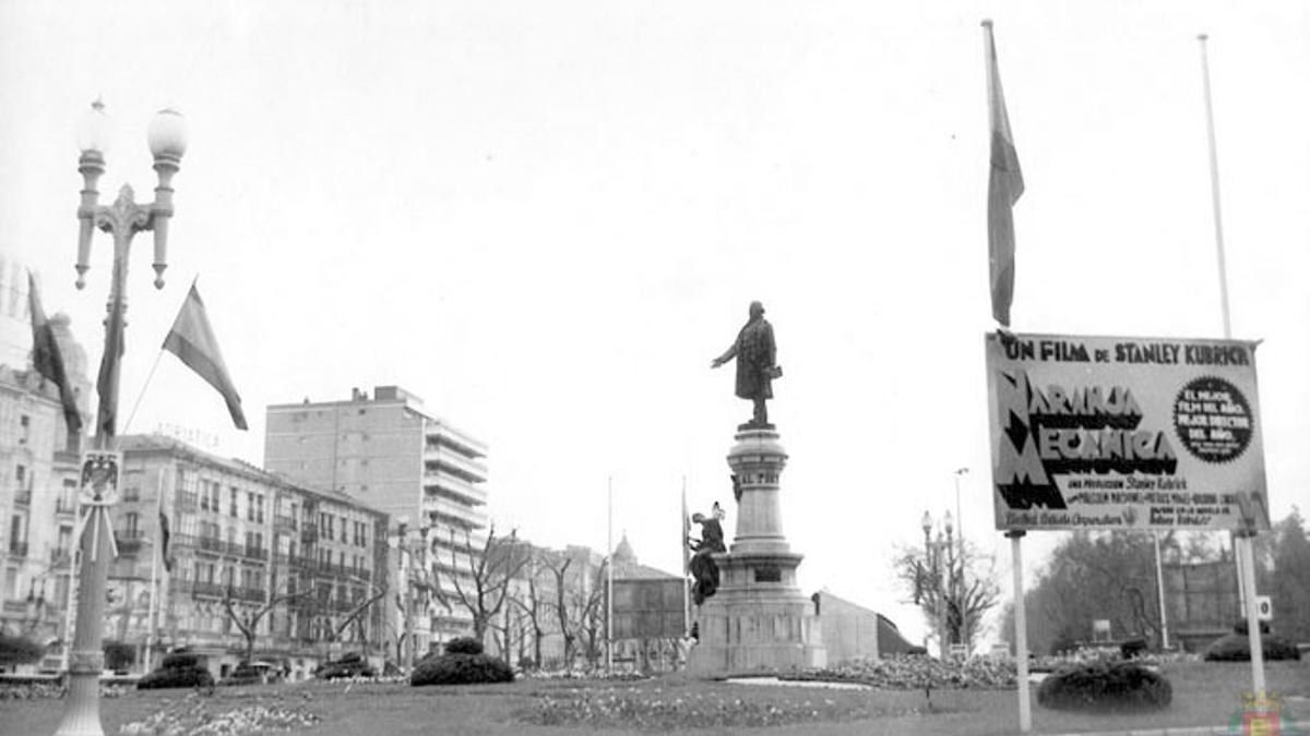 El estreno de la película 'La Naranja Mecánica' en la Seminci de 1975.