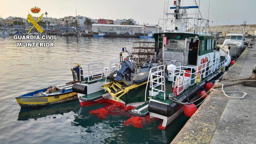 Aprehendido un bote pesquero en Gran Canaria con nasas ilegales