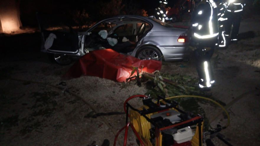 Vehículo accidentado en Granadilla de Abona
