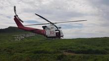 El helicóptero rescata a dos senderistas de Santander desorientados y cansados en los collados del Asón