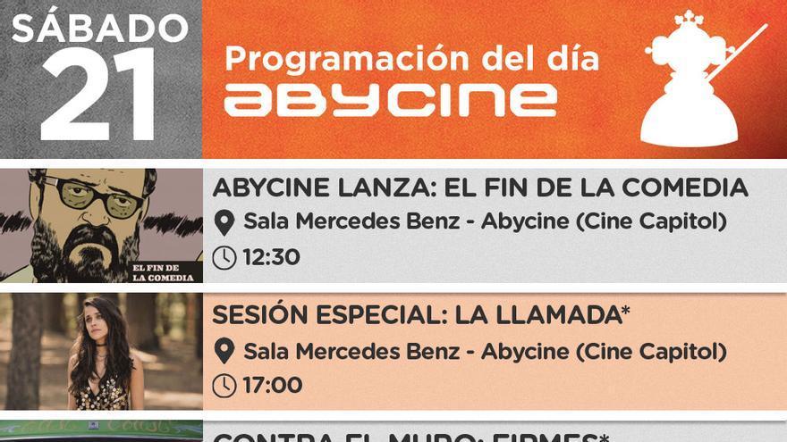 Programación de Abycine para este sábado