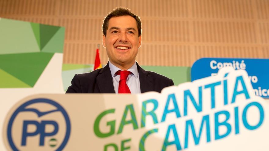 """Moreno promete liderar el cambio en Andalucía """"sin revanchismo y agresividad y con sentido patriota"""""""