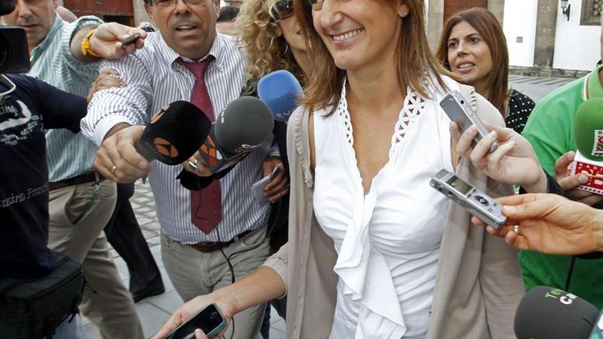 Águeda Montelongo a su llegada al Palacio de Justicia de Las Palmas de Gran Canaria. Efe.