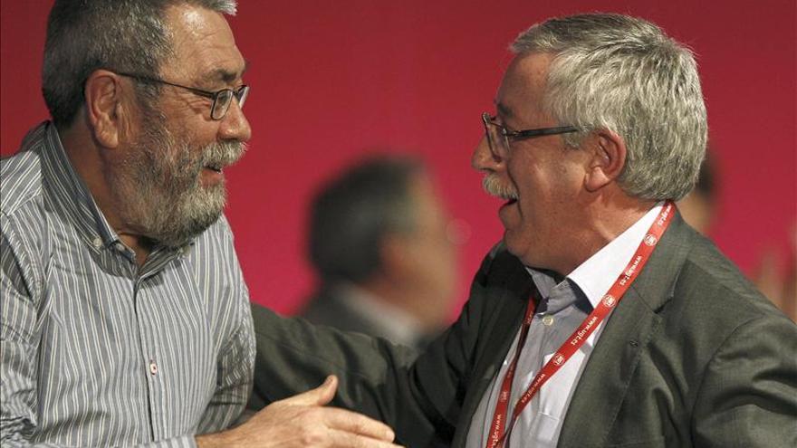 """Méndez defiende su gestión en UGT frente a la """"farsa y fracaso"""" del Gobierno"""