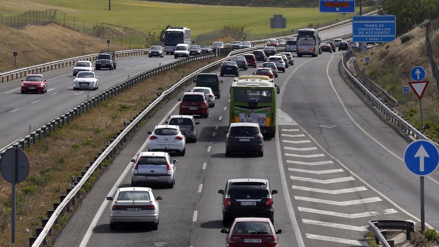 Circulación de salida de Madrid.
