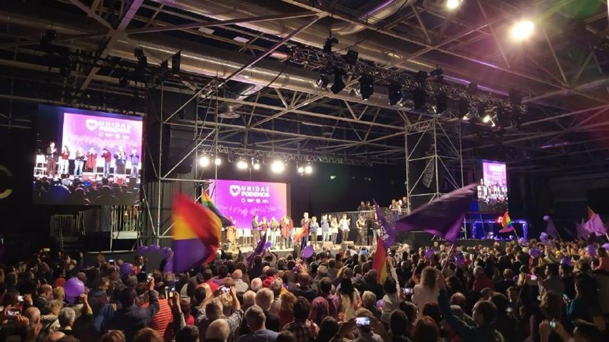 Acto de cierre de campaña de Podemos