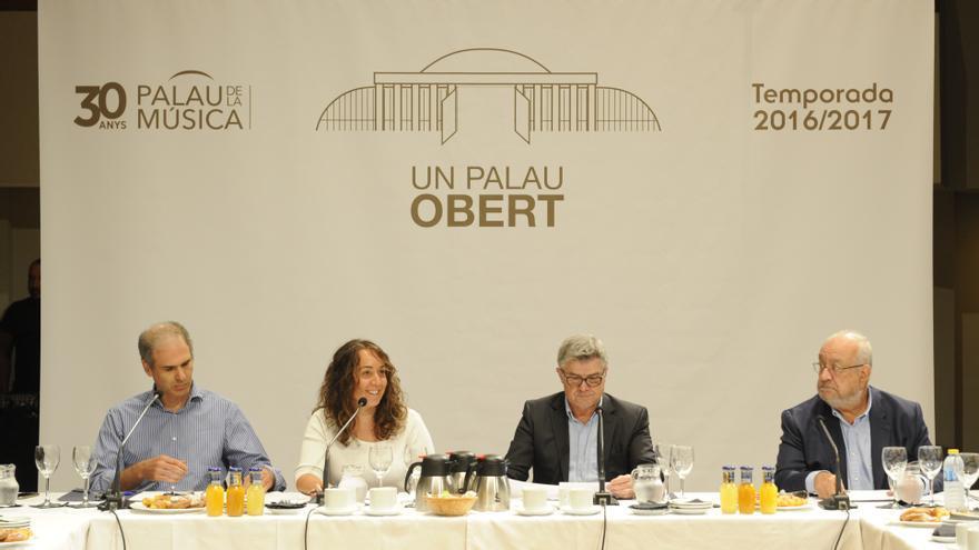 La presidenta del Palau de la Música, Glòria Tello, en la presentación de la programación