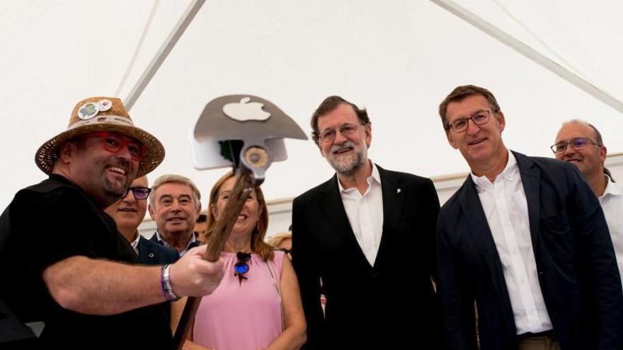"""Rajoy, pregonero: """"Viva el vino del Ribeiro"""""""