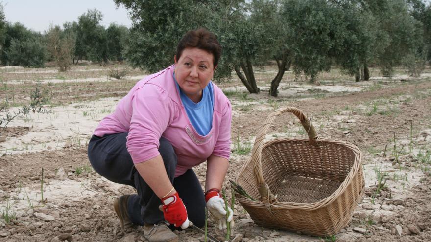 María Inés Casado trabajando en su explotación.