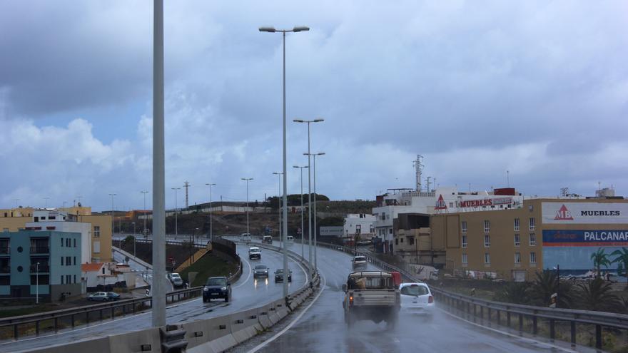 Temporal de lluvia en Gran Canaria. Foto: Cirenia Vico