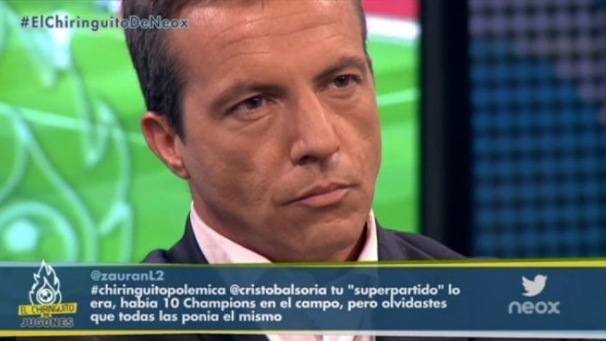 Cristóbal Soria, en 'El Chiringuito de Jugones' que conduce Pedrerol en Mega