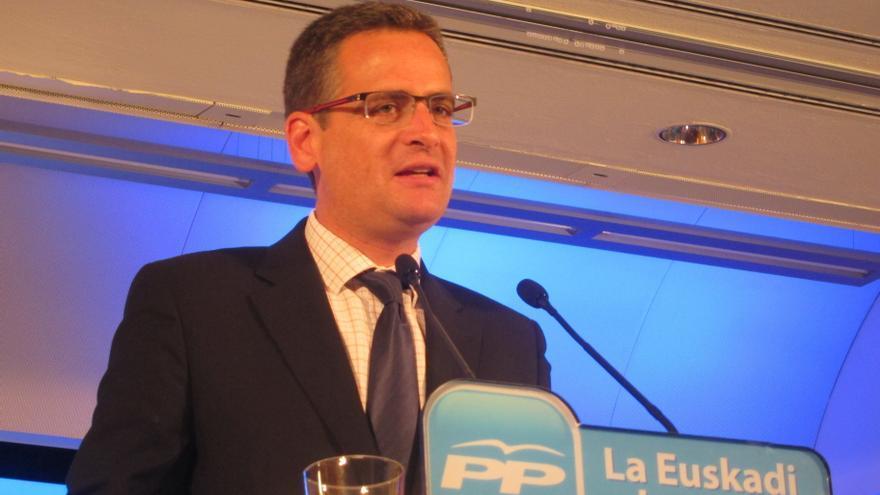 """Basagoiti reprocha """"el extremismo y la codicia"""" de López al afirmar que nunca estará en un pacto de estabilidad con PP"""
