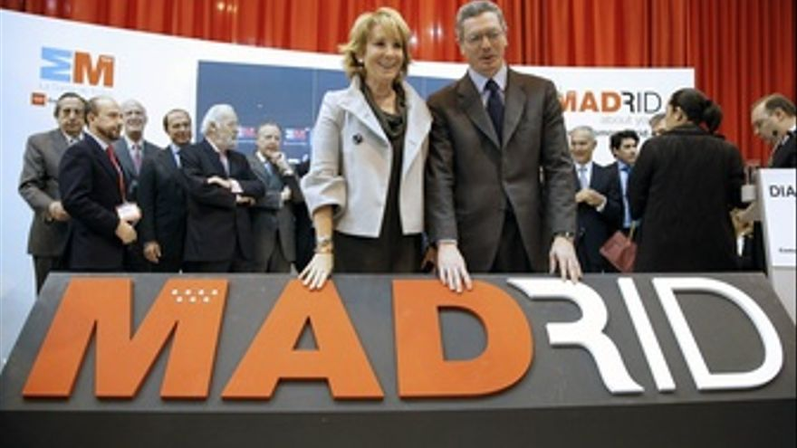 Aguirre y Gallardón en Fitur