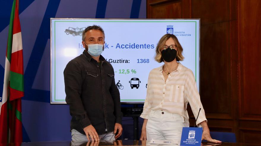 Los concejales donostiarras Martin Ibabe y Pilar Arana
