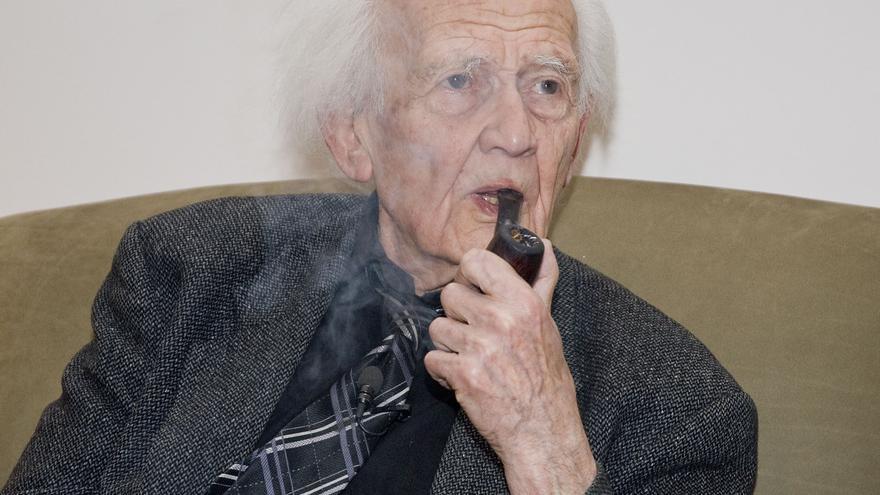 El pensador polaco Zygmunt Bauman, en febrero de 2014 en Madrid. / Alejandro Lamas