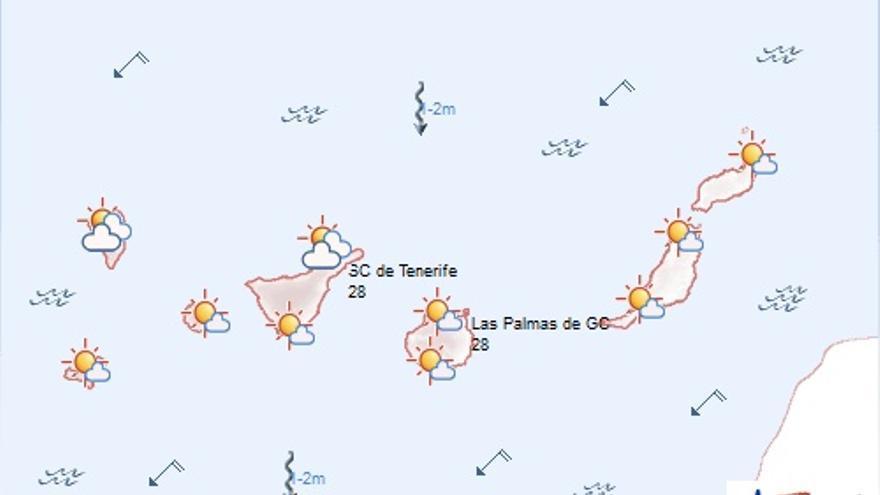 Previsión meteorológica para este lunes. (AEMET)