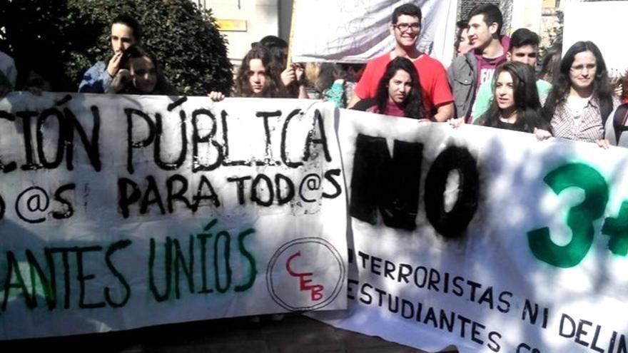 Protestas también en Badajoz / @AsambleaUEx