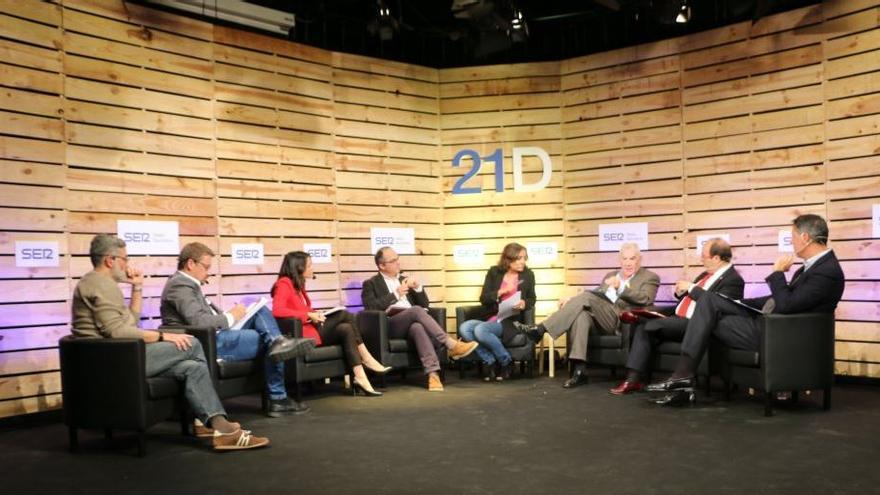 Debate entre los representantes de los partidos catalanes en la campaña del 21D