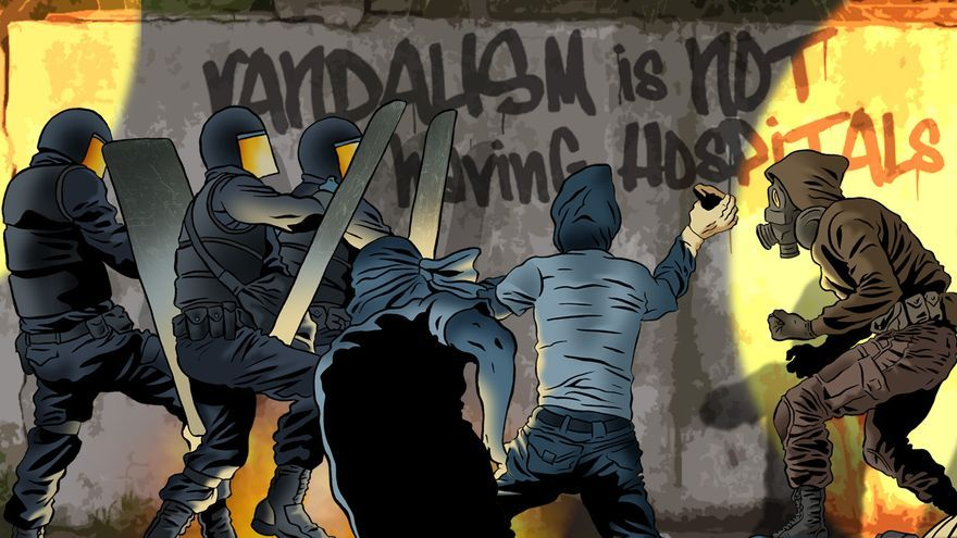 """El vandalismo es no tener hospitales""."