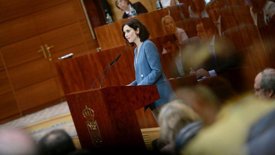 Isabel Díaz Ayuso, durante su discurso de investidura. / PP