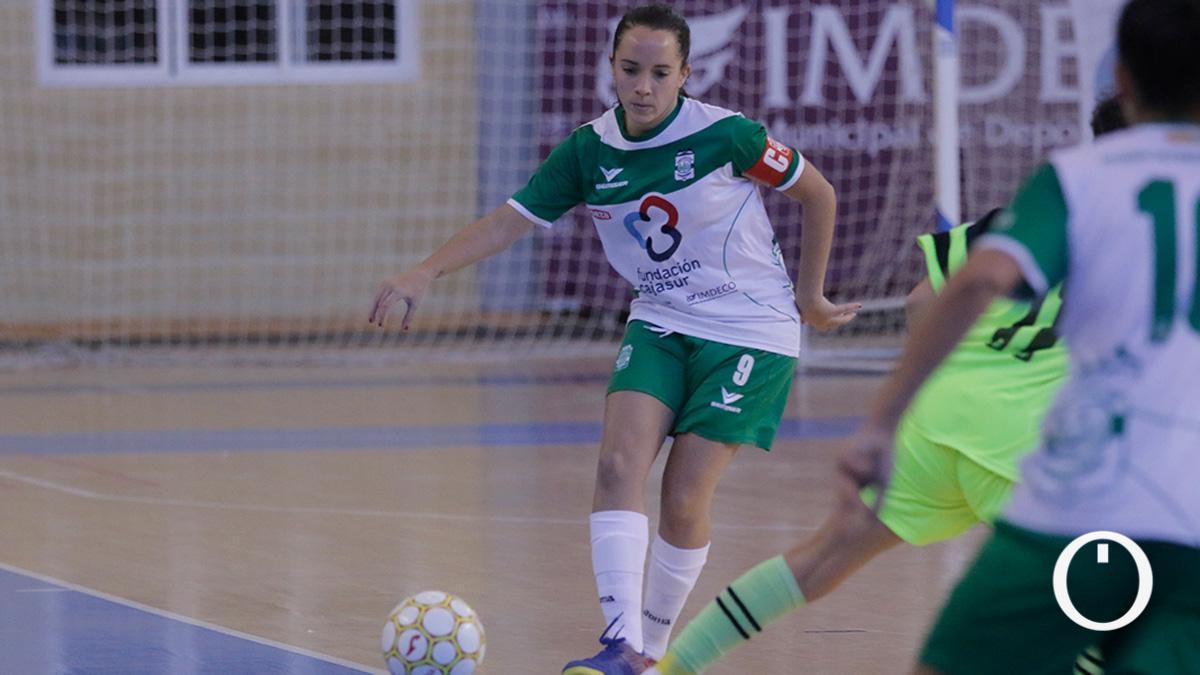 Marixu Romero, en un partido del Deportivo Córdoba.