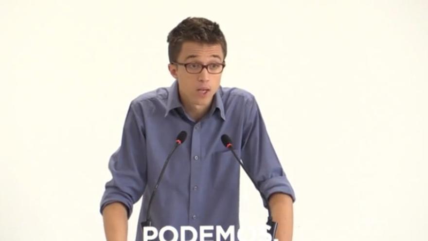 Íñigo Errejón, en rueda de prensa este martes