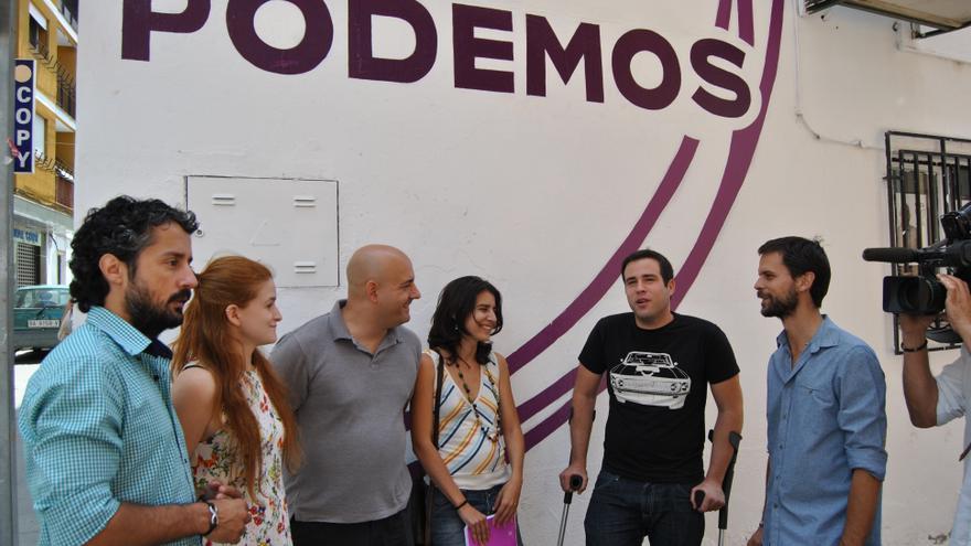 Foto de familia de las seis diputados de Podemos en la Asamblea de Extremadura / JCD