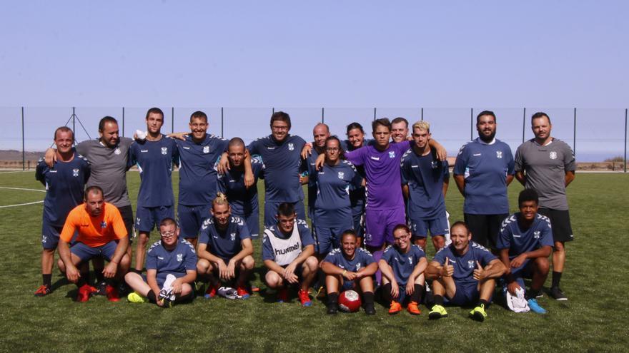 Integrantes del equipo EDI del CD Tenerife en la Ciudad Deportiva.
