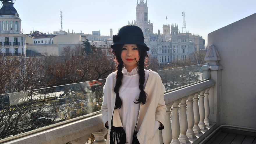 La periodista y defensora de derechos humanos Su Yutong en su visita a España.