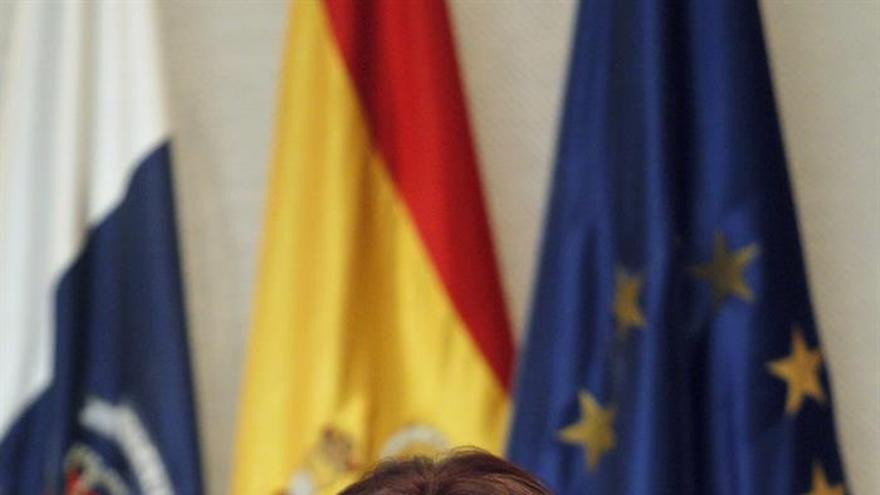 La consejera de Cultura, Deportes, Políticas Sociales y Vivienda del Gobierno de Canarias, Inés Rojas. EFE/Cristóbal García