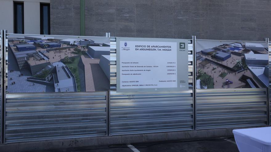 Construcción del aparcamiento de Arguineguín