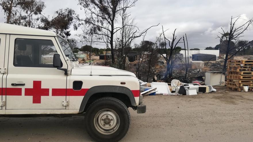El fallecido en el incendio de chabolas en Palos es un joven marroquí de 23 años