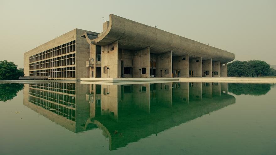 Complejo del Capitolio de Chandigarh, en la India.