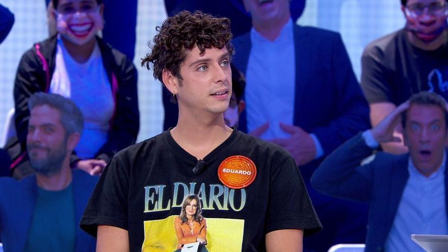 Eduardo Casanova homenajeó a 'El diario de Patricia' en 'Pasapalabra'